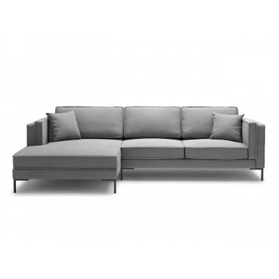 5-Sitzer Ecksofa Links Attilio | Grau