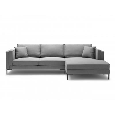 5-Sitzer Ecksofa Rechts Attilio | Grau