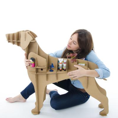 Labrador-Karton-Hund