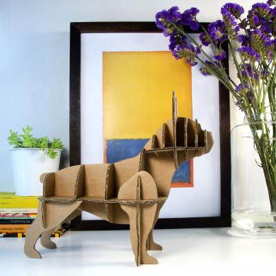 Französischer Mini-Bulldoggen-Kartonhund