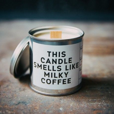 Scented Candle Can   Milky Coffee