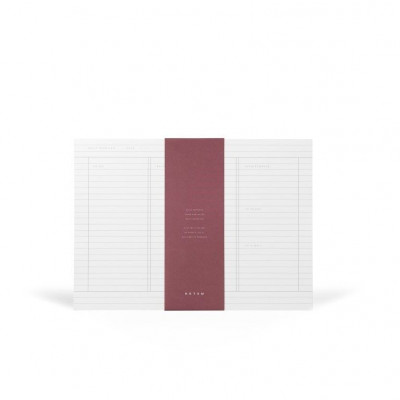 Milo Daily Planner Notepad    White & Blue