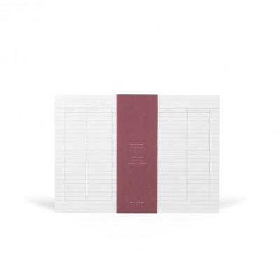 Milo Weekly Planner Notepad    White & Blue