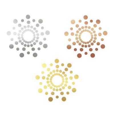 Selbstklebende Nippelabdeckungen 3er-Set Mimi | Metallisch