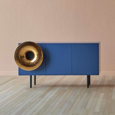 Cabinet Sound System Large | Blau & Gold