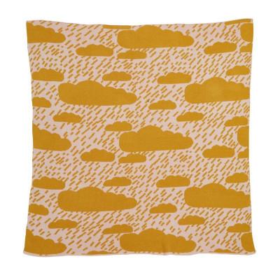 Clouds Cotton Mini Blanket   Mustard