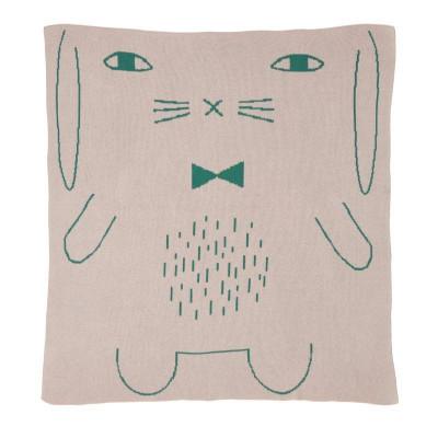 Rabbit Cotton Mini Blanket   Pink