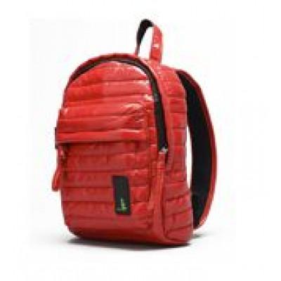 Gesteppter Mini-Rucksack Rot