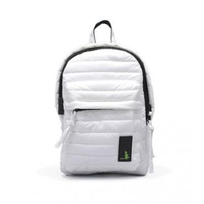 Gesteppter Mini-Rucksack Weiß