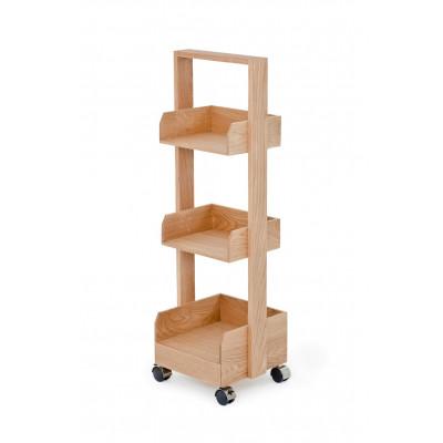 Book Shelf Mini Bookie Roller Oak