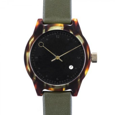 Minuteman Two Hand Watch | Army Tortoise & Green