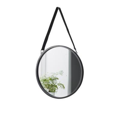 Spiegel mit Lederriemen