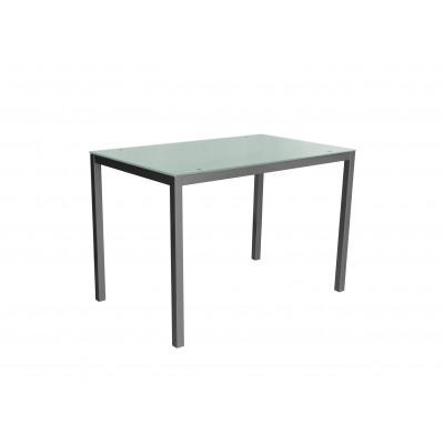 Tisch Mirror 110 x 70 cm Glas | Weiß