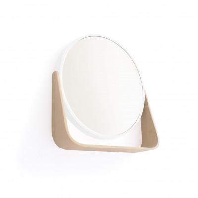 Spiegel Ferma   Weiß & helles Holz