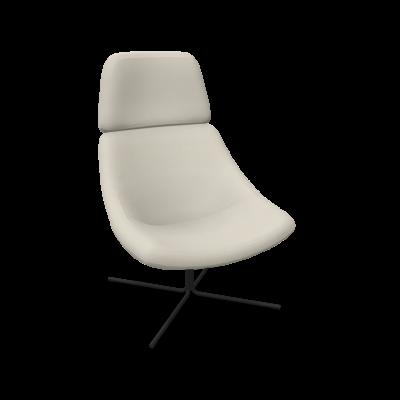 Sessel XL Mishell Gekreuzte Beine / Niedrige Rückenlehne | Beige