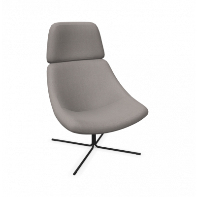 Sessel XL Mishell Gekreuzte Beine / Niedrige Rückenlehne | Grau