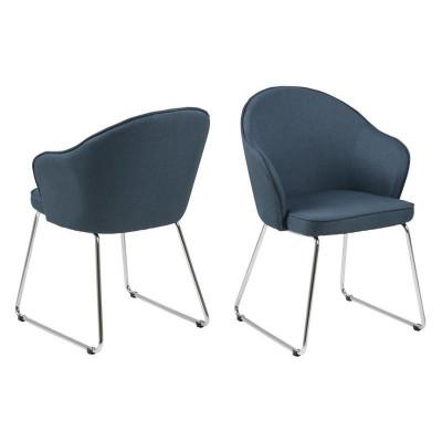 Set of 2 Chairs Mazz   Dark Blue