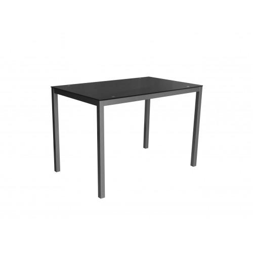 Tisch Mirror 110 x 70 cm Glas | Schwarz