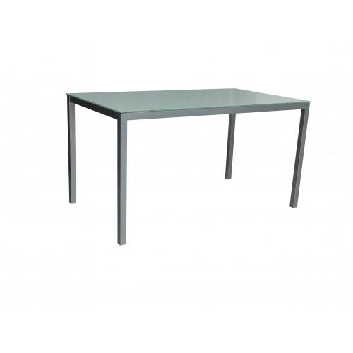 Tisch Mirror 140 x 80 cm Glas | Weiß