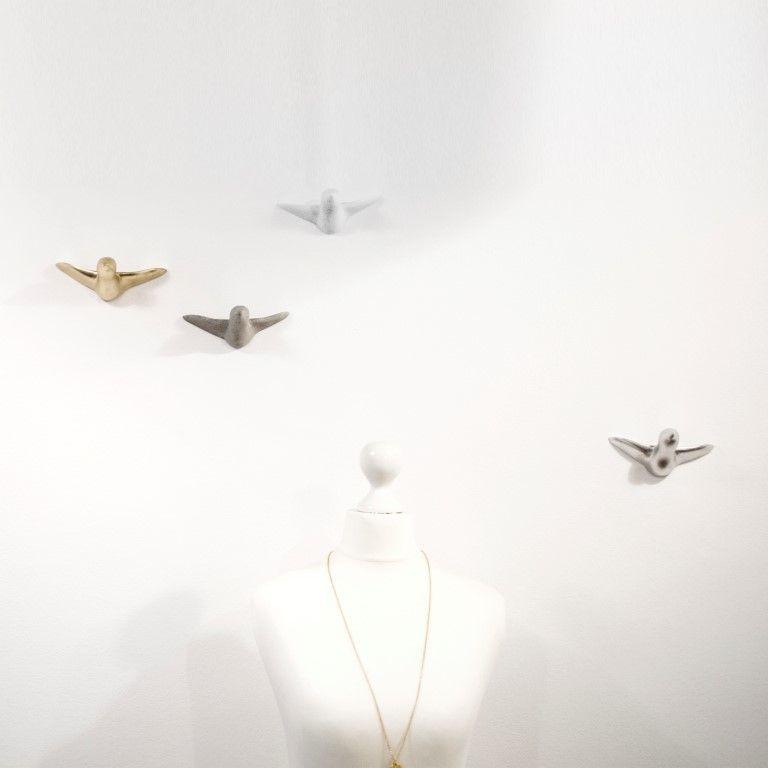Vogelschwarm Wandhaken   Gemischt.