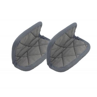 Paar Topflappen für Kasserolle   Grau