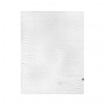 Blanket   White Leaves