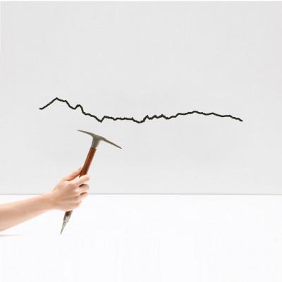 Wanddekoration Mont Blanc Klein | Schwarz