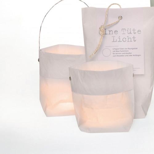 Tasche mit Licht 4er-Set | Weiß