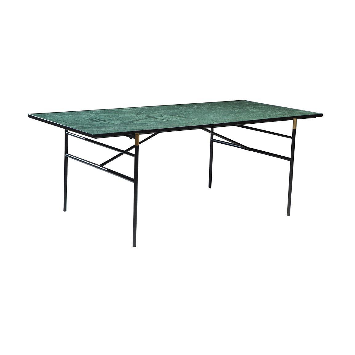 Dining Table Mood  | Green Marble / Black Legs