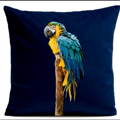 Kissenbezug Blau Papagei