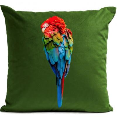Kissenbezug Papagei Rot