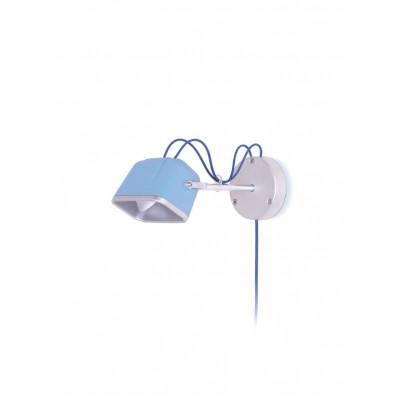 Wall Mounted MOB Lamp | Mat Light Blue