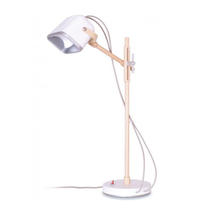 Wood MOB Lamp | Mat White