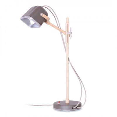 Wood MOB Lamp | Mat Grey
