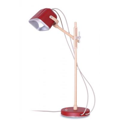 Wood MOB Lamp | Mat Red