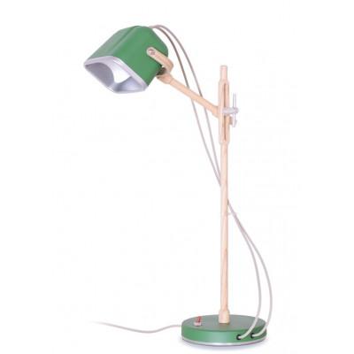 Wood MOB Lamp | Mat Green