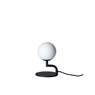 Mobile Tischlampe | Schwarz / Opalweiß