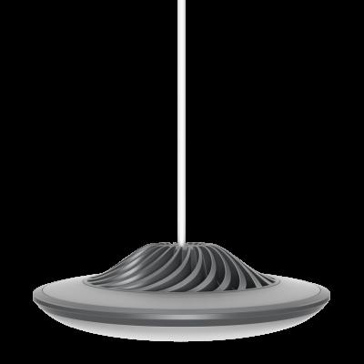 Smarte Hängeleuchte Model F   Grau