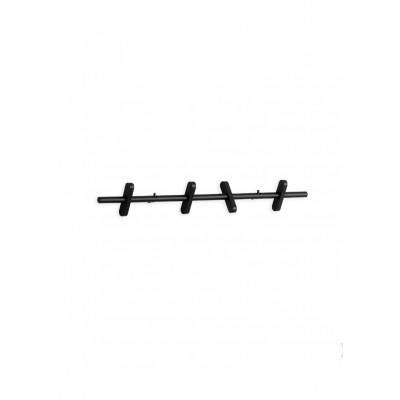 Wandgarderobe 40 cm | Schwarz