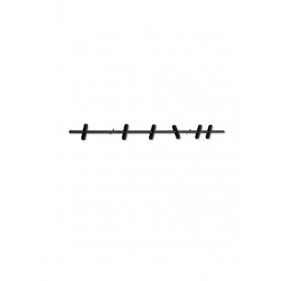 Wandgarderobe 70 cm | Schwarz