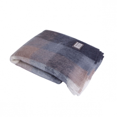 Classic Check Mohair Blanket