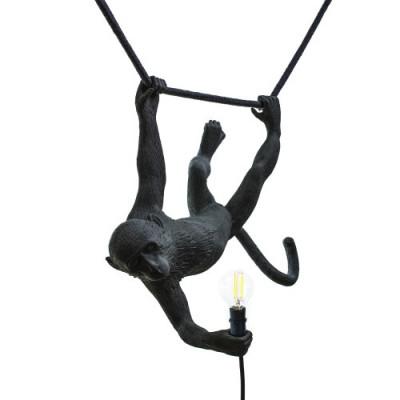 Außenlampe Affe Schwingend | Schwarz