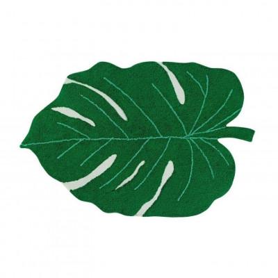 Waschbarer Teppich Monsterablatt | Grün