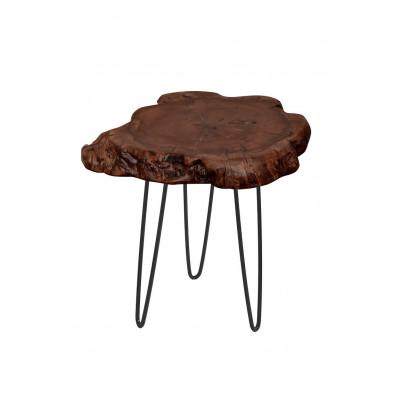 Kleiner Beistelltisch Montanio | Dunkles Holz