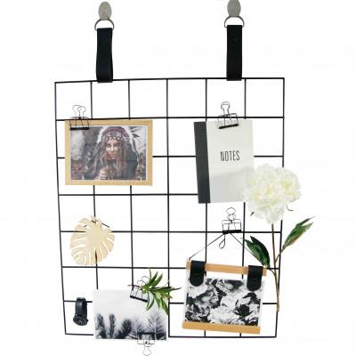 Black Grid Mood Board   Black Leather