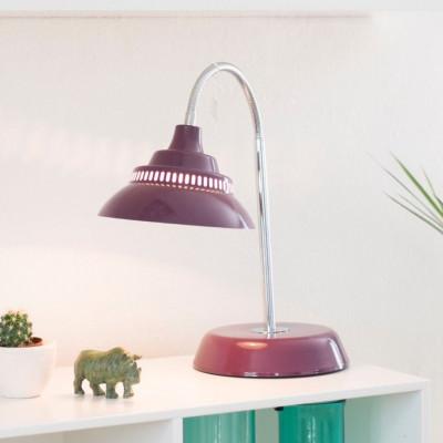 Big Table Lamp   Dark Red