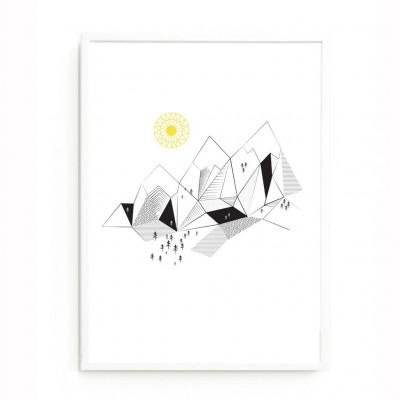 Gebirge drucken
