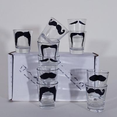 Schnapsgläser Moustache | 10er-Set