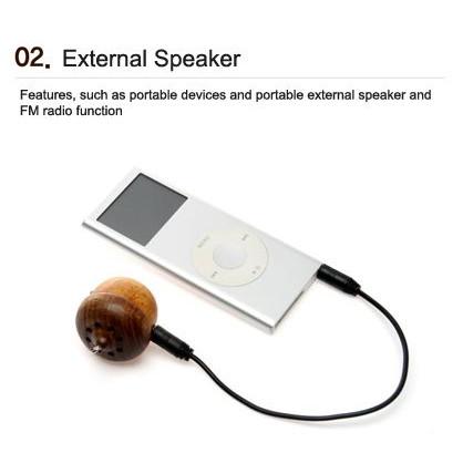 Tiny Wooden Acorn Speaker (Built-in FM Radio)