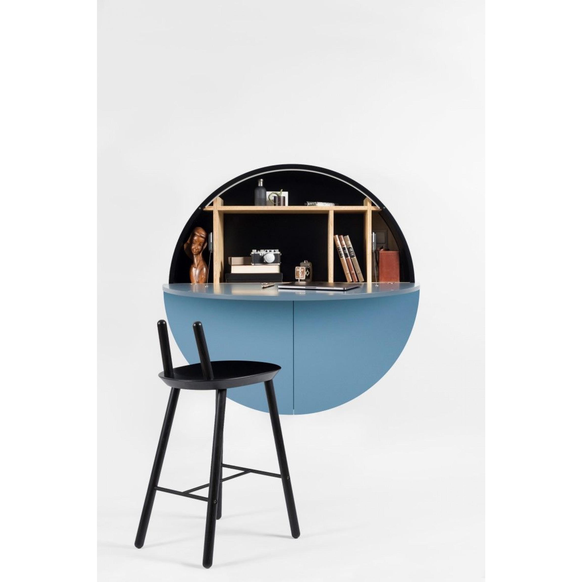 Schreibtisch Pill | Schwarz / Blau